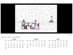 京都壁紙カレンダー2011(1月-3月)