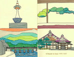 京都のシンボルpart1(モレスキン画)