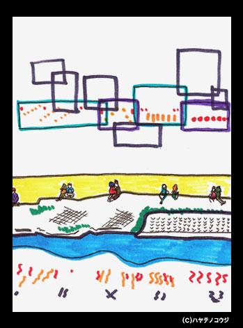 京都ポストカード:鴨川カップル
