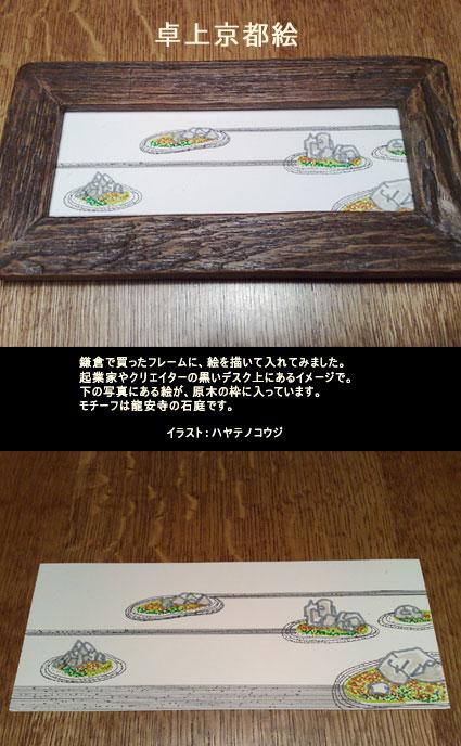 卓上京都絵(鎌倉フレーム)